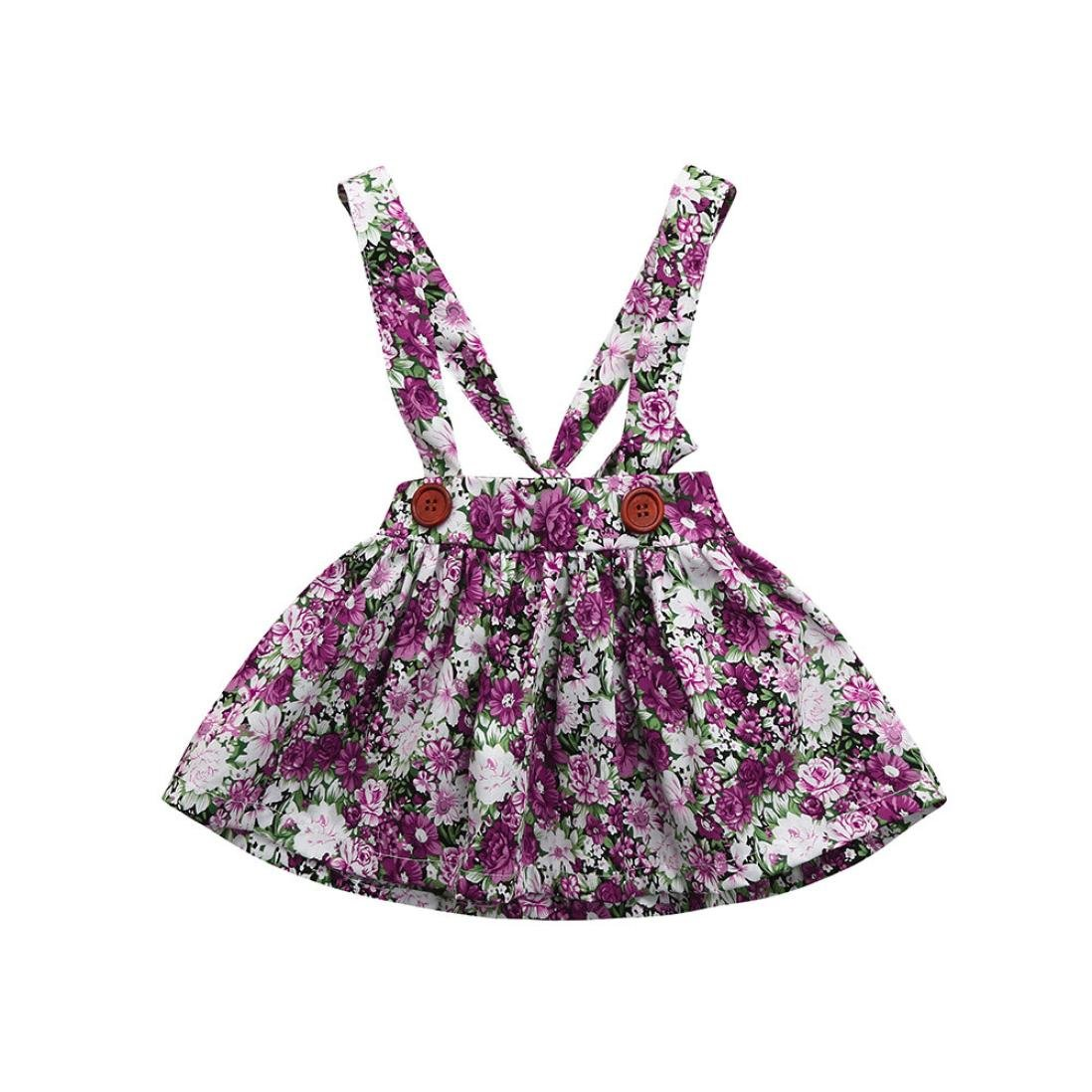 Vovotrade Newborn Baby Outfits Clothes Girls Print Straps Dress Backless Overall Skirt Cute Mini Dresses