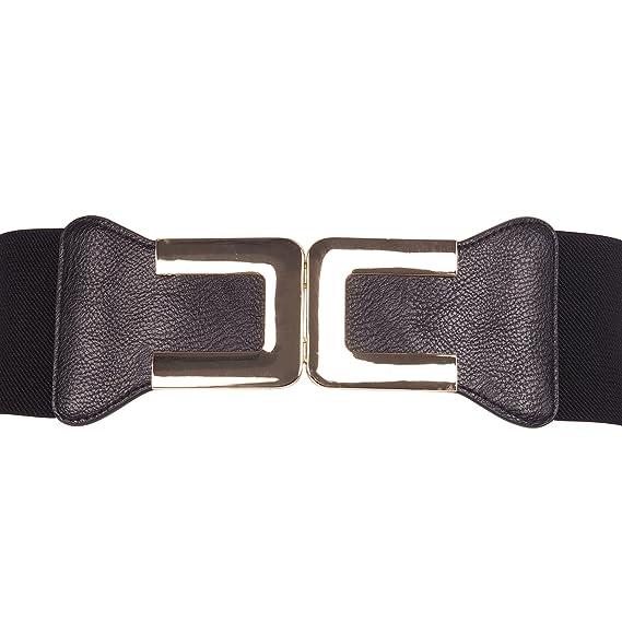 Ceinture corset élastique noire boucle U métal doréCeinture corset élastique  noire boucle noire et blanche - b2b8bc1ceca