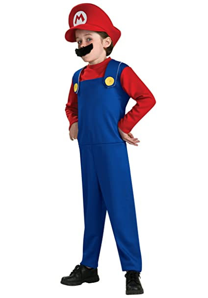 super mario brothers mario costume small discontinued by manufacturer