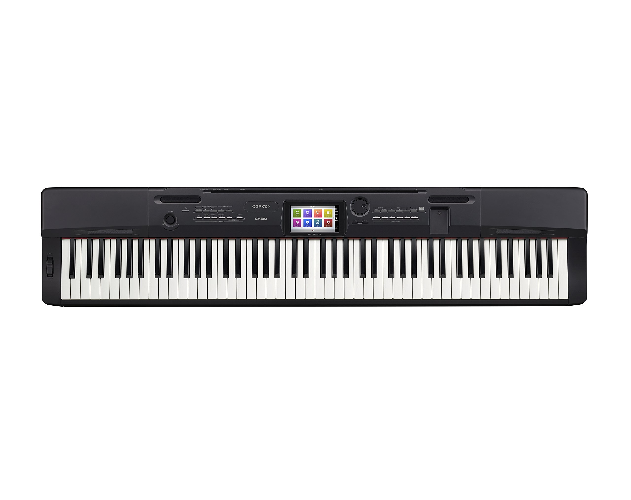 Casio CGP-700BK 88-Key Compact Grand Digital Piano Bundle with Furniture-Style Bench, Dust Cover, Instructional DVD, Instructional Book, Sustain Pedal, and Polishing Cloth - Black by Casio (Image #3)