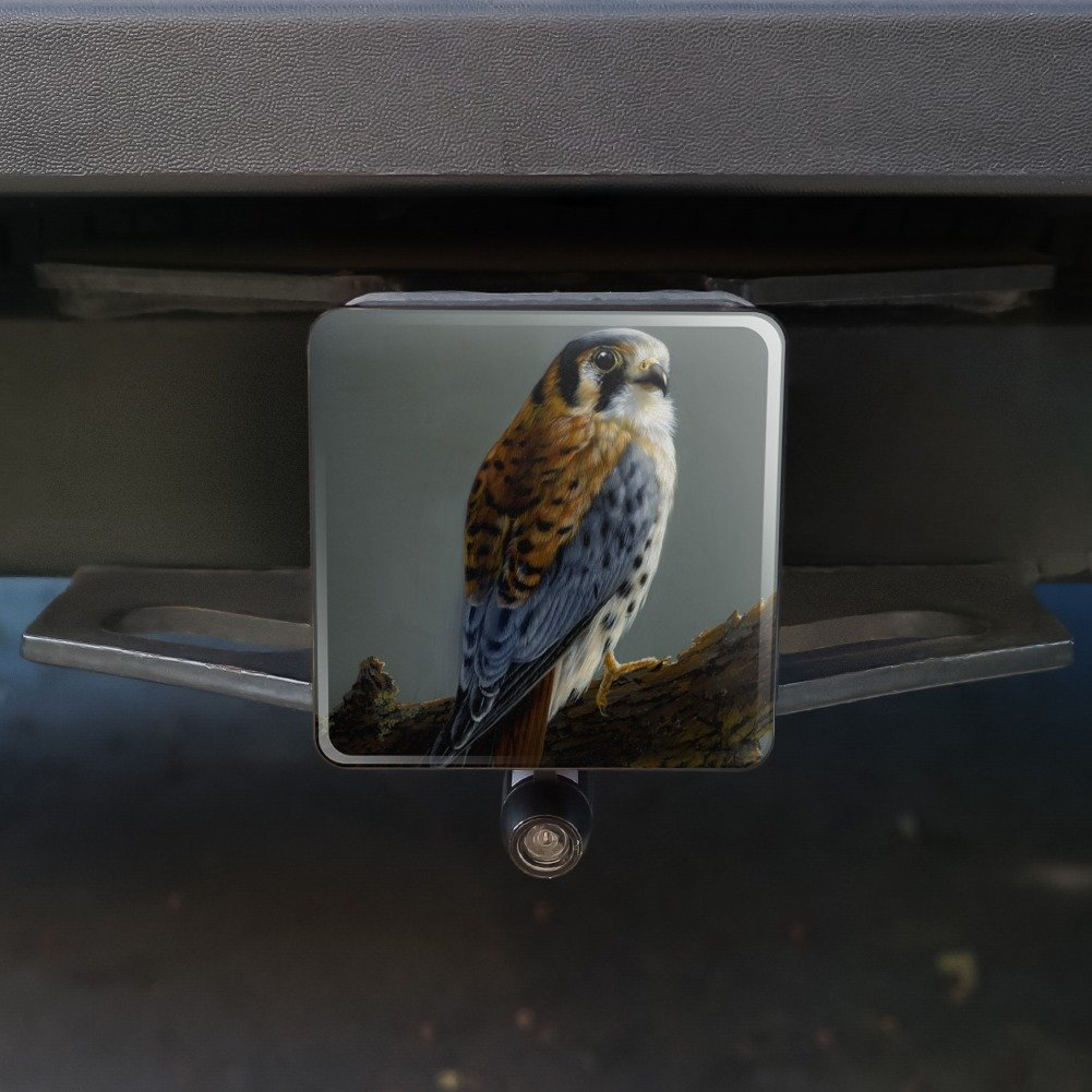 1.25 Graphics and More American Kestrel on Branch Painting Tow Trailer Hitch Cover Plug Insert 1 1//4 inch