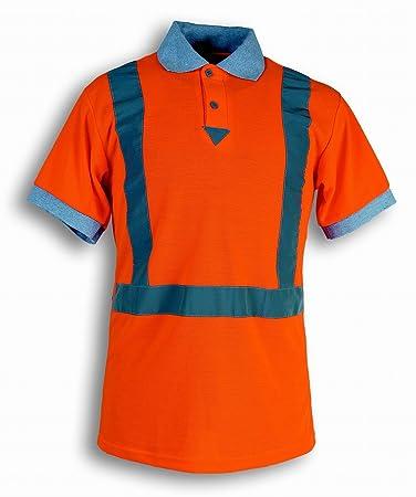 Seba 132 AV SH camiseta Polo HV naranja, naranja, 132AV SH: Amazon ...