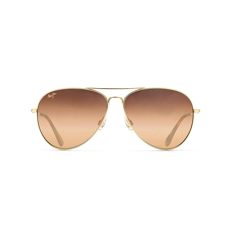 Maui Jim Sunglasses | Mavericks 264 | Aviator Frame, Polarized Lenses, with Patented PolarizedPlus2 Lens Technology