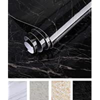 Oxdigi Marble Contact Paper 24 x 196 inches Self Adhesive Peel & Stick Wallpaper for Kitchen Countertop Cabinet…