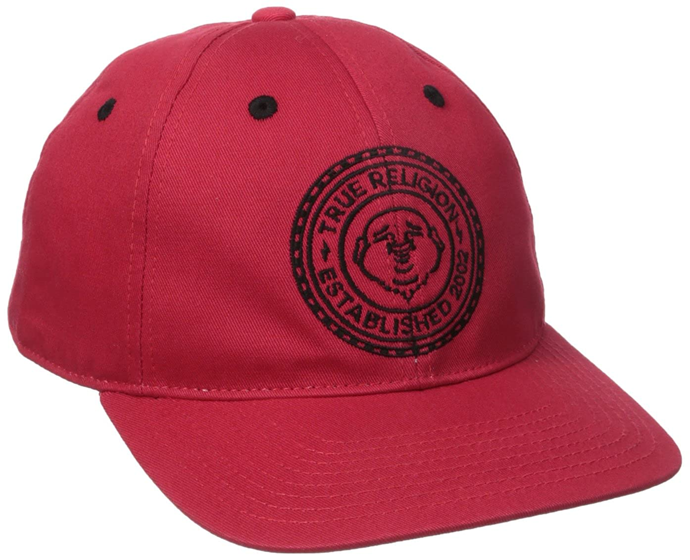 96c362a02e488 True Religion Mens Buddha Seal Flat Brim Cap True Red One Size True  Religion Headwear TR2274 ...