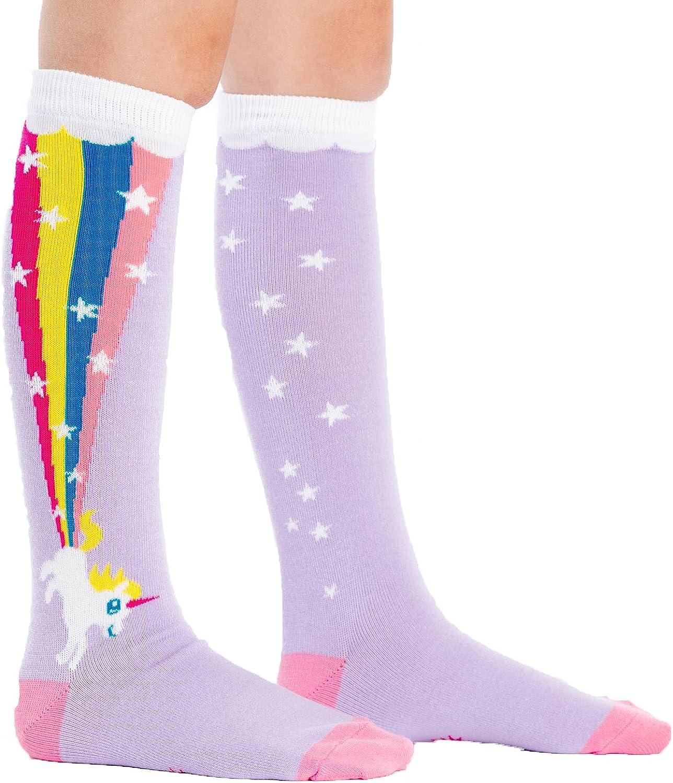 Mujer Ni/ñas Calcetines de Algod/ón con Volantes Rainbow Socks