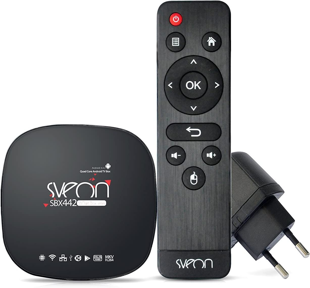 Sveon SBX442 Sveon SBX442 - Mini Android TV Box Quad Core Negro: Amazon.es: Electrónica