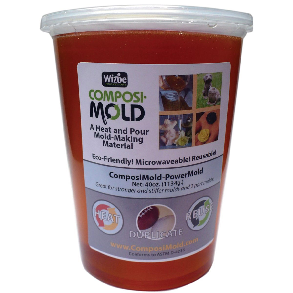 ComposiMold Firm 40 Ounce Reusable Molding Material, Reheat To Reuse PM40