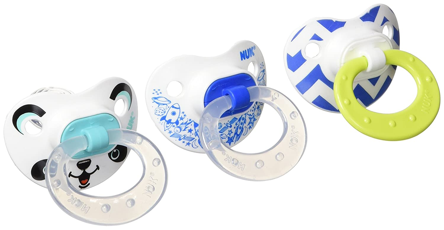 Green 0-6 Months BPA Free NUK Orthodontic Translucent Pacifier Pack of 2