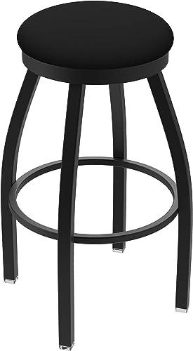 Holland Bar Stool Co. 80225BWBlkVinyl 802 Misha Counter Stool, 25 Seat Height, Black Vinyl