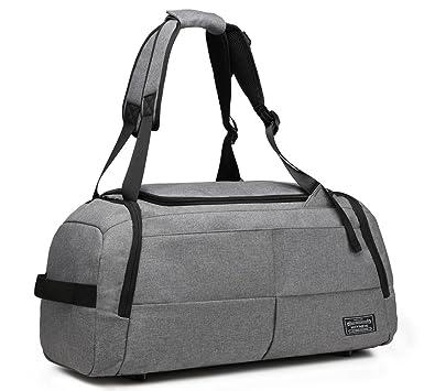 00b10b0c9582 KEYNEW 55L Sports Gym Bag Canvas Travel Duffel with Shoe Compartment