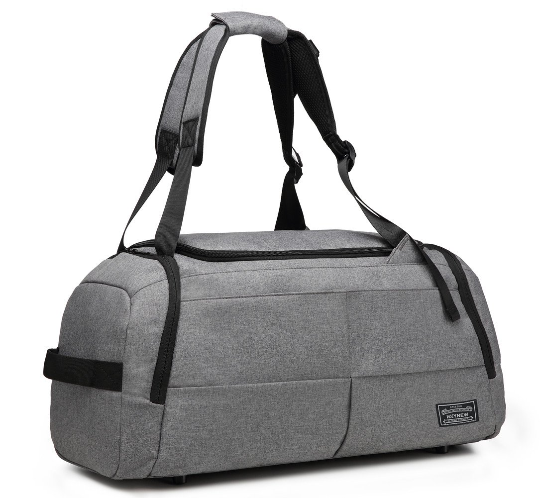 KEYNEW 55L Waterproof Duffel Sports Gym Bag for Men Women with Shoes Compartment