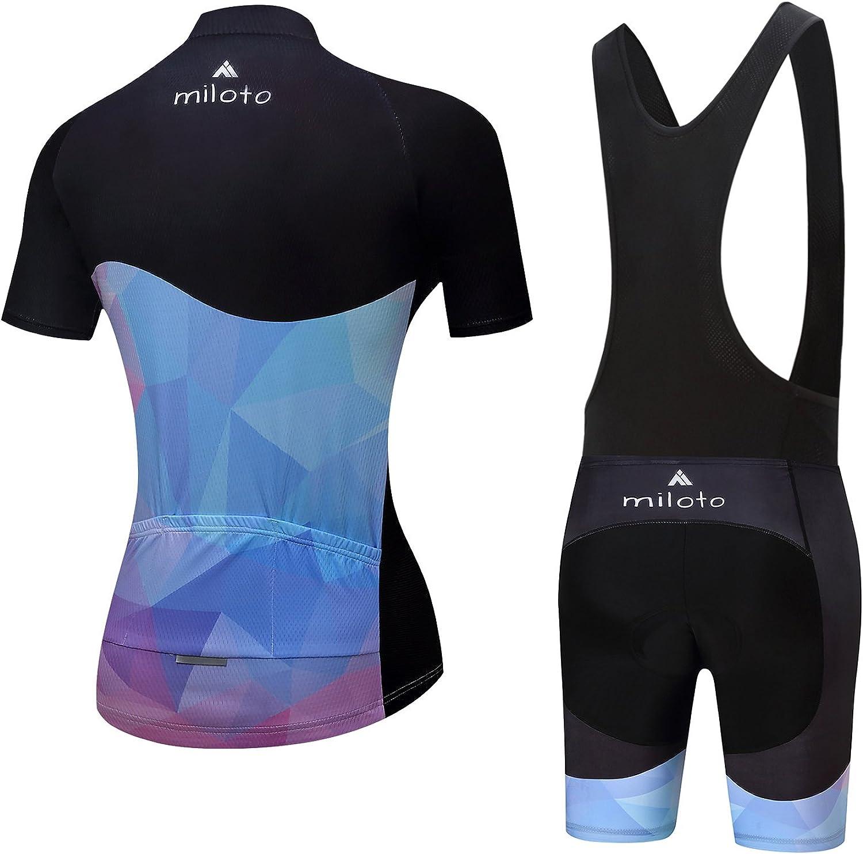 MILOTO Womens Cycling Jersey Shorts Set Biking Suits Breathable