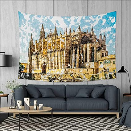 Amazon.com: Anniutwo Gothic Dorm Decor Big Gothic Building ...