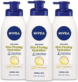 NIVEA Skin Firming Hydrating Body Lotion, 16.9 Fl. Oz (Pack of 3)