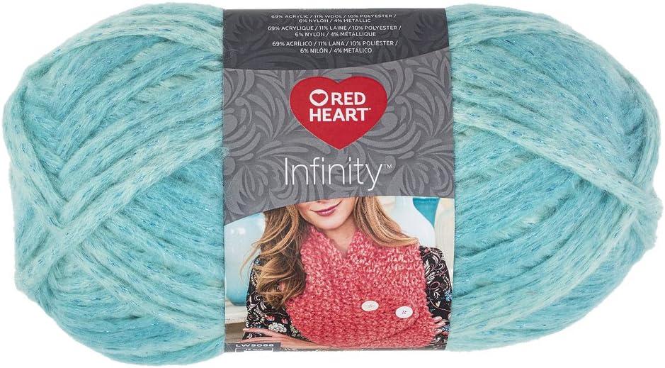 Red Heart Infinity wool blend yarn 129 yds each lot of 2 Seafoam