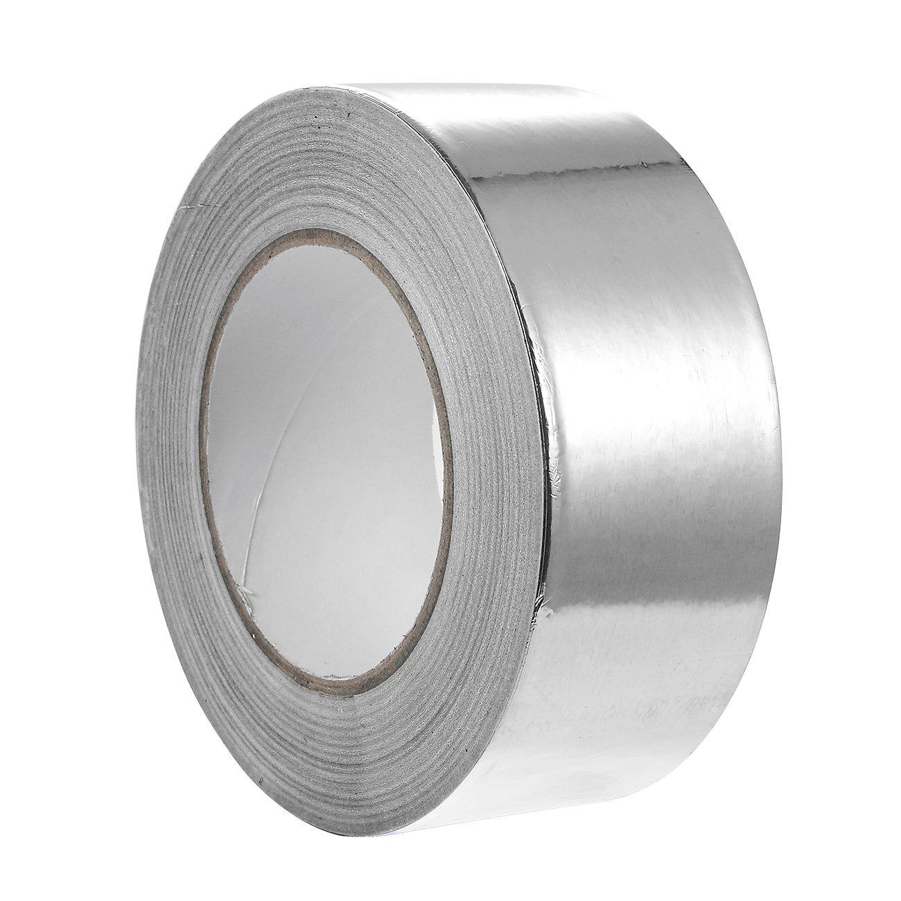Juvale Aluminum Tape - 55 Yards Aluminum Foil Tape HVAC, Ducts, Insulation Equipment Repair adhesive tape