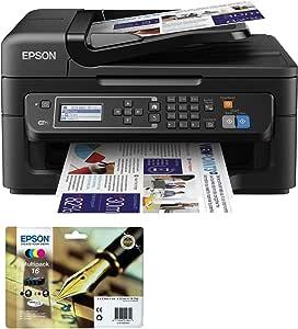 Epson WF-2630WF - Impresora multifunción de tinta + Epson C13T16264010 - Cartuchos de tinta extra (Pack): Amazon.es: Informática