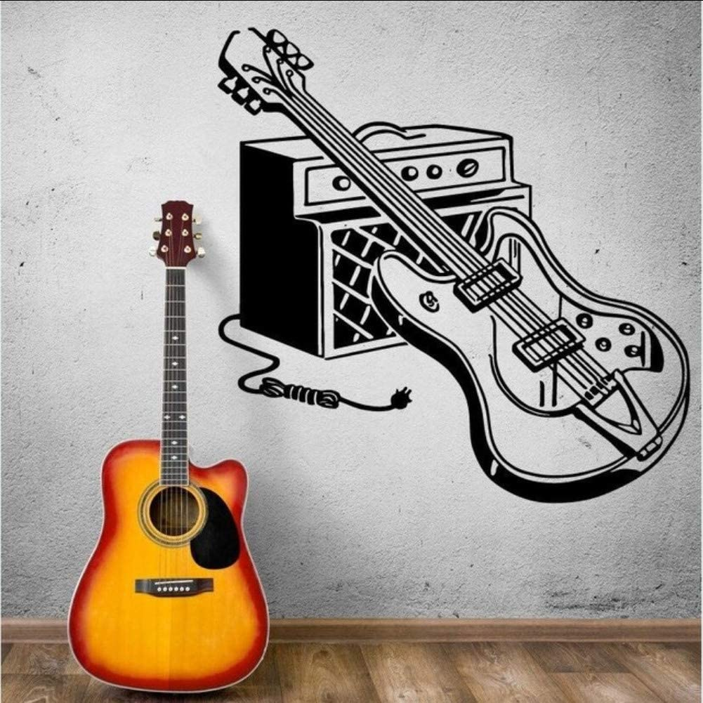 Cmhai Etiqueta De La Pared De La Guitarra Eléctrica Tatuajes De ...