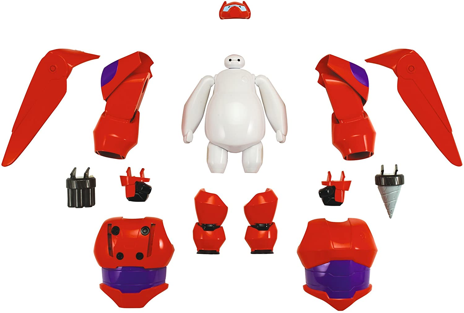 Amazon Com Big Hero 6 Armored Up Baymax Action Figure Toys Games