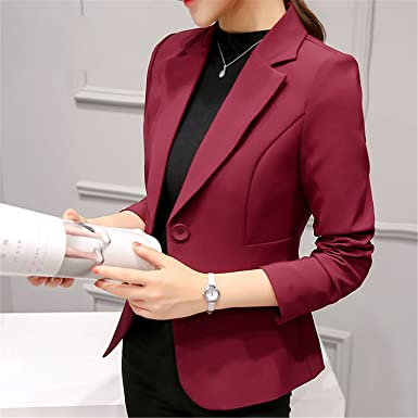 Beautface Makeup Women Autumn Winter Formal Jacket Rosa Female Claret Women Suit Office Plus Size 297RX