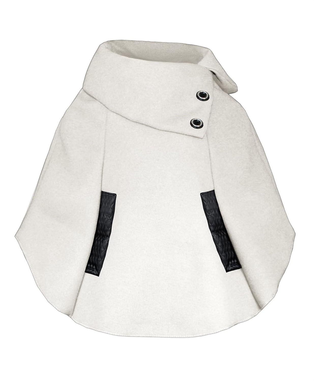 lotmart RAGAZZE DA INFILARE Mantella bambini Asimmetrico Poncho dettaglio bottone giacca e regalo omaggio lotmart PROMOZIONALE PENNA CON OGNI pacchetto