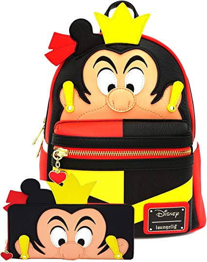 Disney Maleficent 10.5 Height Mini Backpack and Wallet Set by Loungefly Multi