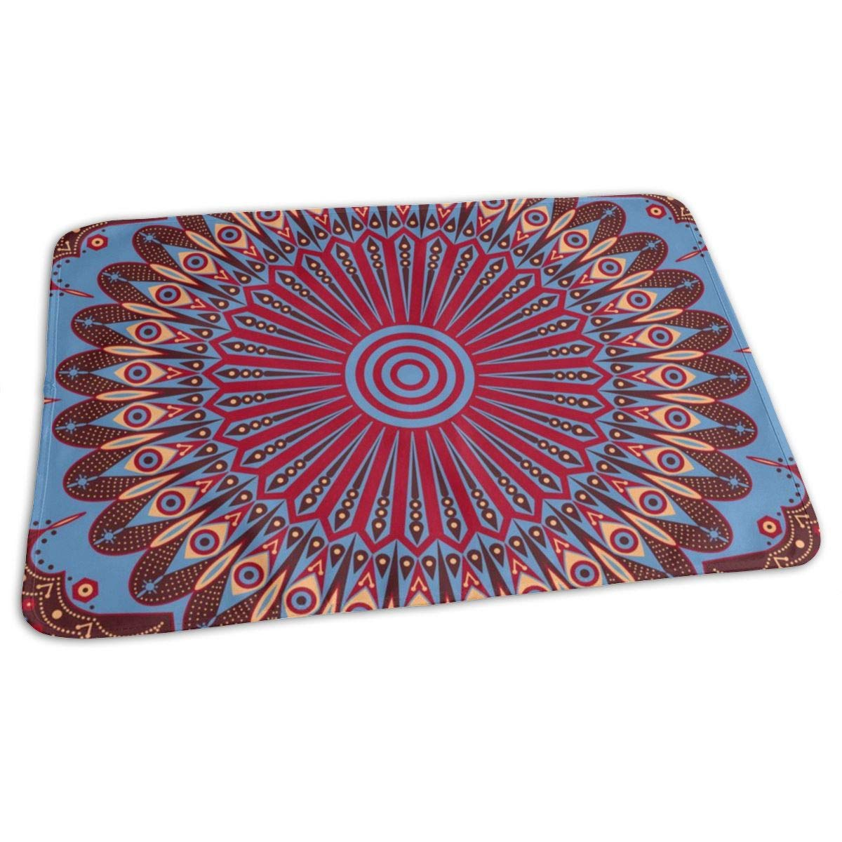 Osvbs Lovely Baby Reusable Waterproof Portable Gules Ethnic Arabesque Background Changing Pad Home Travel 27.5''x19.7'' by Osvbs
