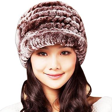 KAXIDY Women Faux Fur Hats Girls Fur Hat Hat Ladies Winter Hats Baker  Trilby Hat Beanies f7ba185f7b2