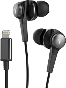 Thore Earbuds with Microphone for iPhone MFi Apple Certified Headphones with Lightning Connector, Wired in Ear Earbuds for iPhone SE /11 Pro Max/Xs Max/Xr/7/8 Plus/X - Black - V120