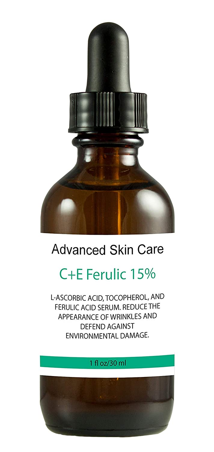 Vitamin CE 15% serum (Compare to Leading Skin CE Serum) with Ferulic Acid: Brighten skin, even complexion, fades dark spots, boosts collagen, fades wrinkles and fine lines (2 Fl Oz)
