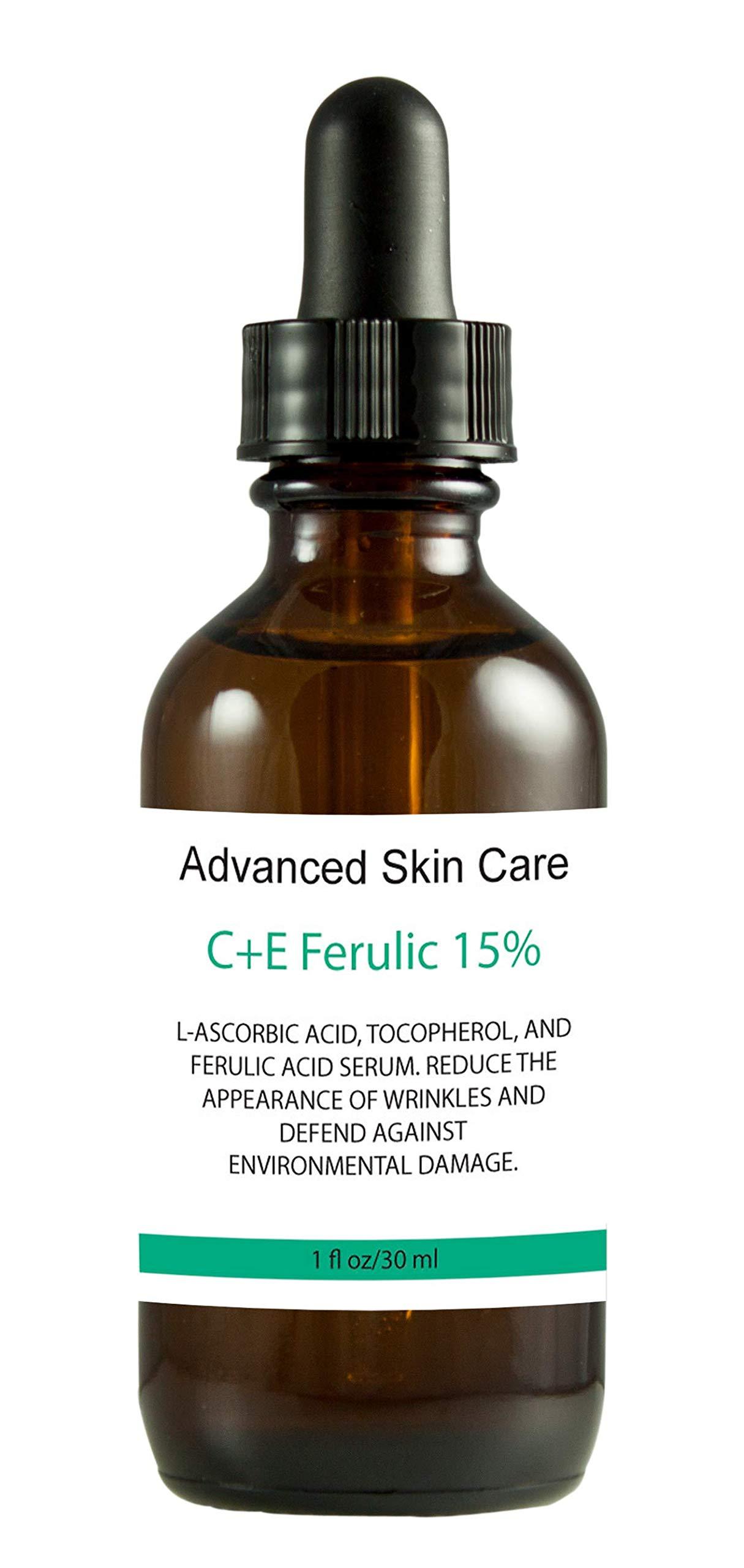 15% Vitamin C and Vitamin E serum with Ferulic Acid, Skin Brightening, Collagen boosting, fights hyperpigmentation, boosts collagen, fades dark spots (2 oz) by Advanced Skin Care