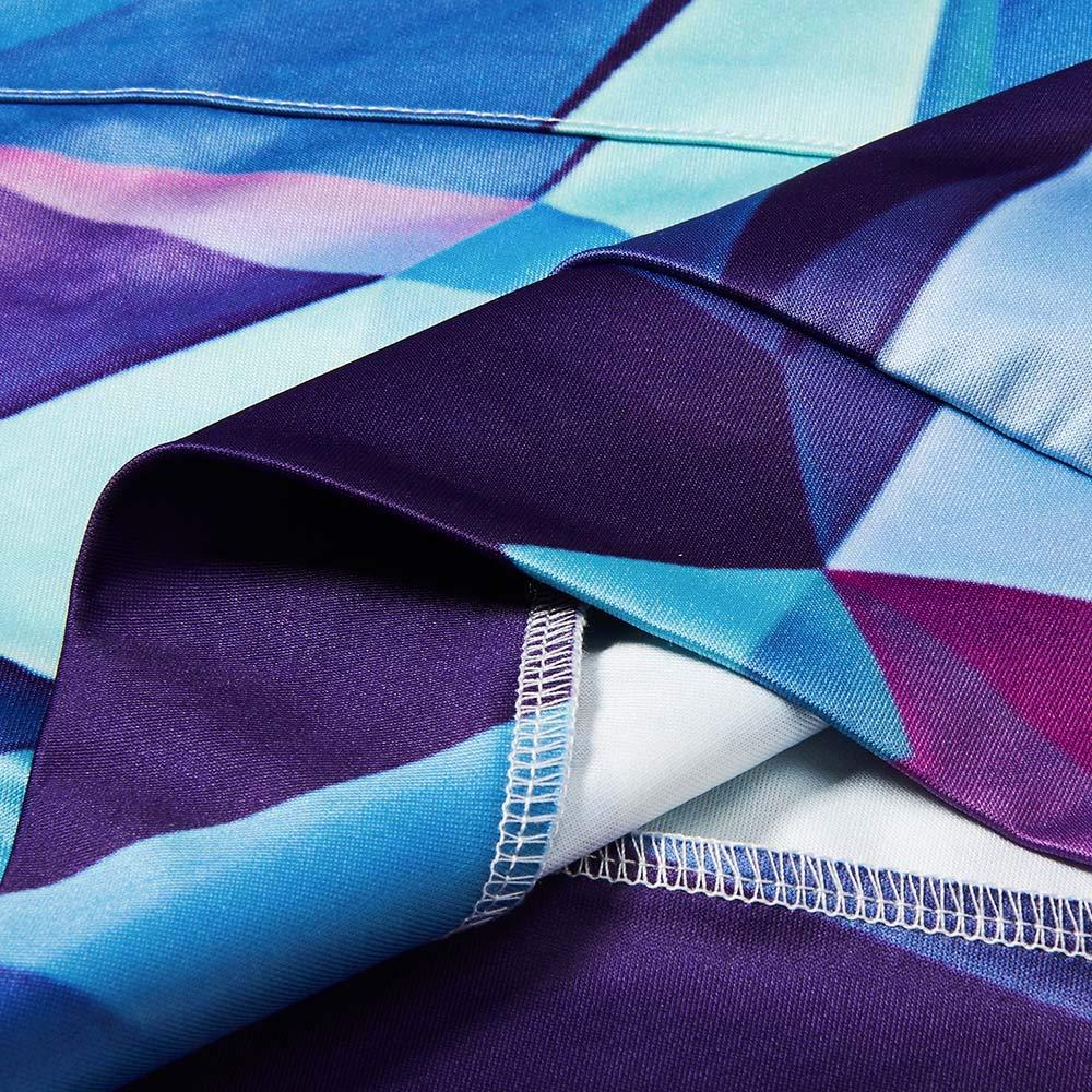 Bfustyle 3D Geometrie Gedruckt Slim Fit Langarm Hoodie Kleid Mit Kapuze Tunika Kleid Für Frauen Damen Teen Mädchen M
