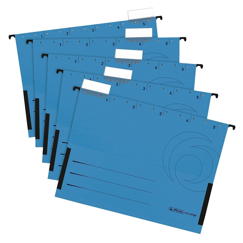 Re-Solution Office Box Jalema 2658026998 farbig sortiert H/ängeregister inklusiv 5 H/ängemappen A4 schwarz /& Herlitz 5874755 H/ängetasche farbig sortiert 5er Packung