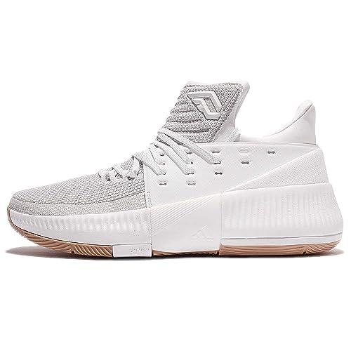 online store 76149 0fcc4 adidas Dame 3 Shoe Mens Basketball 4 White-White-Gum