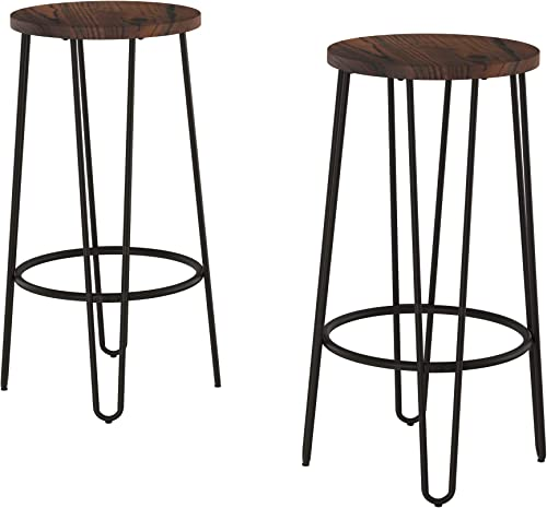 Lavish Home Bar Height Stools-Backless Barstool