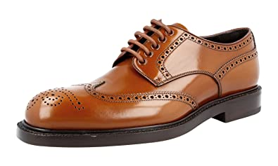 Men's 2EA069 055 F0005 Full Brogue Leather Business Shoes