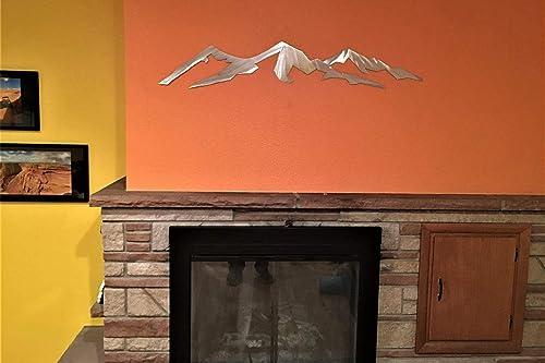 Mountain Range 14er Metal Wall Art Longs Peak Colorado Home Cabin Decor Fourteener Climber Hiker Athlete Scenery