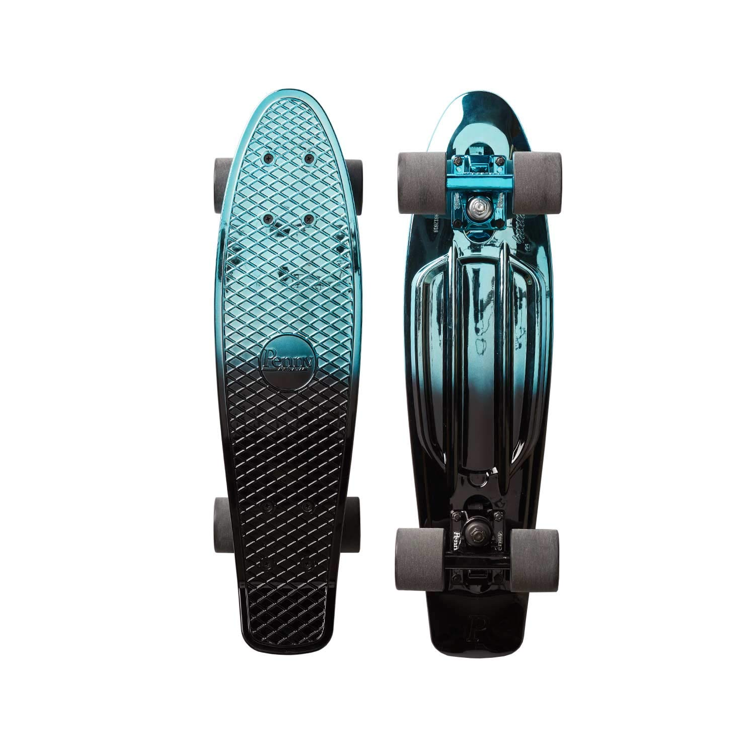 Penny 22'' Cruiser Skateboard - Blue Black Metallic Fade 22''