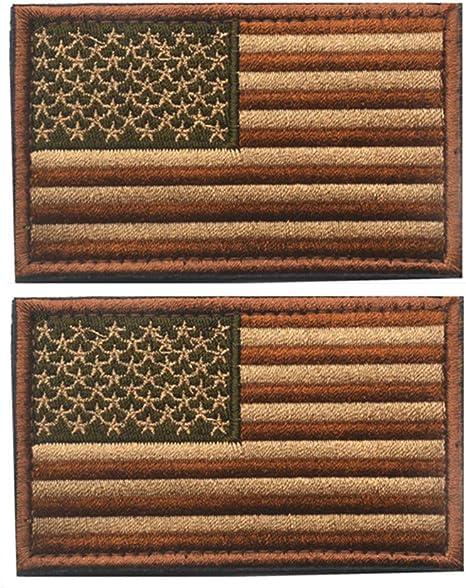 X. sem marrón y barro USA la bandera americana parche – 2 Pack táctica parches bordado emblema de la moral: Amazon.es: Juguetes y juegos