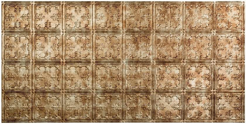 Fasade Easy Installation Traditional 10 Bermuda Bronze Glue Up Ceiling Tile / Ceiling Panel (1 Tile)