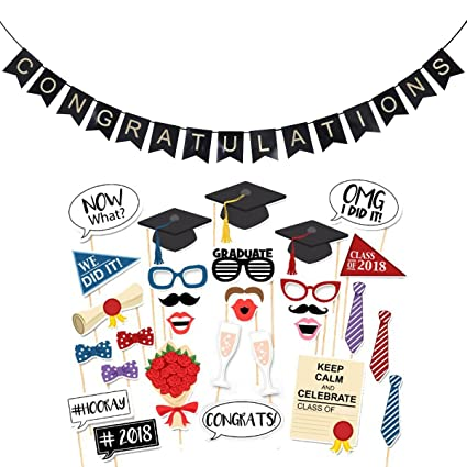 amazon com oulii 30pcs graduation photo booth props