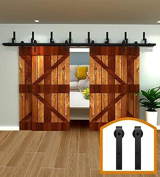 HomeDeco Hardware 5 16 FT 4 Door Sliding Interior By Pass Barn Door  Hardware Tms