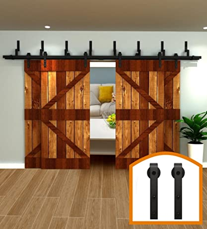 Exceptionnel HomeDeco Hardware 5 16 FT 4 Door Sliding Interior By Pass Barn Door Hardware  Tms