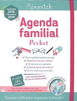 Agenda familial memoniak Pocket 2018 - 2019: Collectif ...