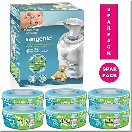 Sangenic, Starter Set basura para pañales MK4 higiene Plus, incluye 7 cartuchos