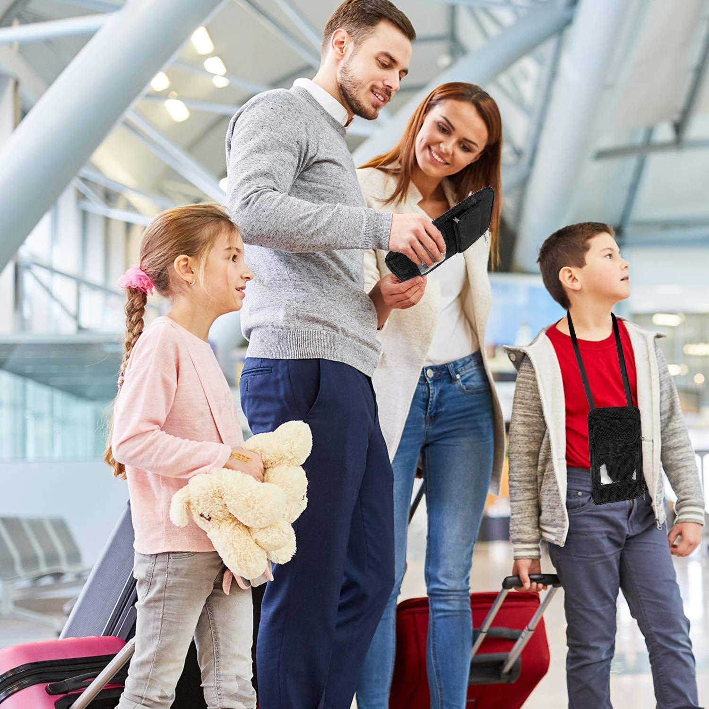 cartes de cr/édit cartes didentit/é MATEIN Portefeuille de voyage pour passeport familial avec blocage RFID pour 5 passeports argent et autres accessoires de voyage pour homme et fe billets davion