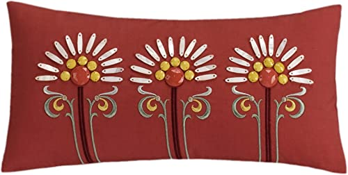 Echo Design Jaipur NORMAL PILLOW, 9 x18 , Red