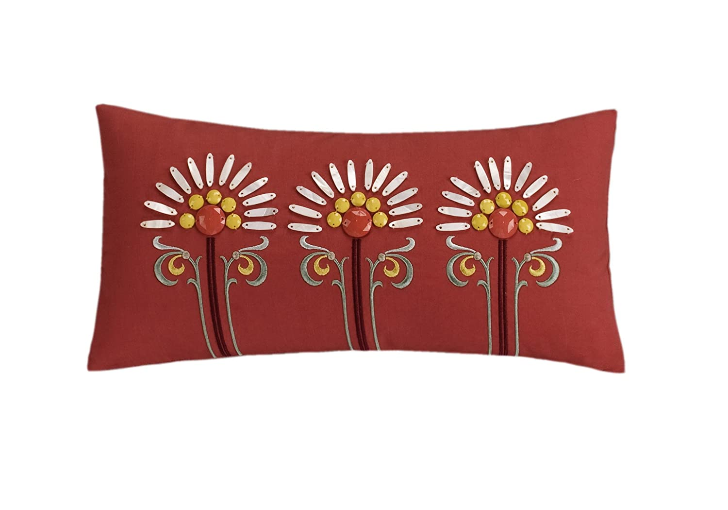 echo jaipur echo jaipur paisley print bedding at bedeck   - amazoncom echo jaipur by inch polyester fill pillow red