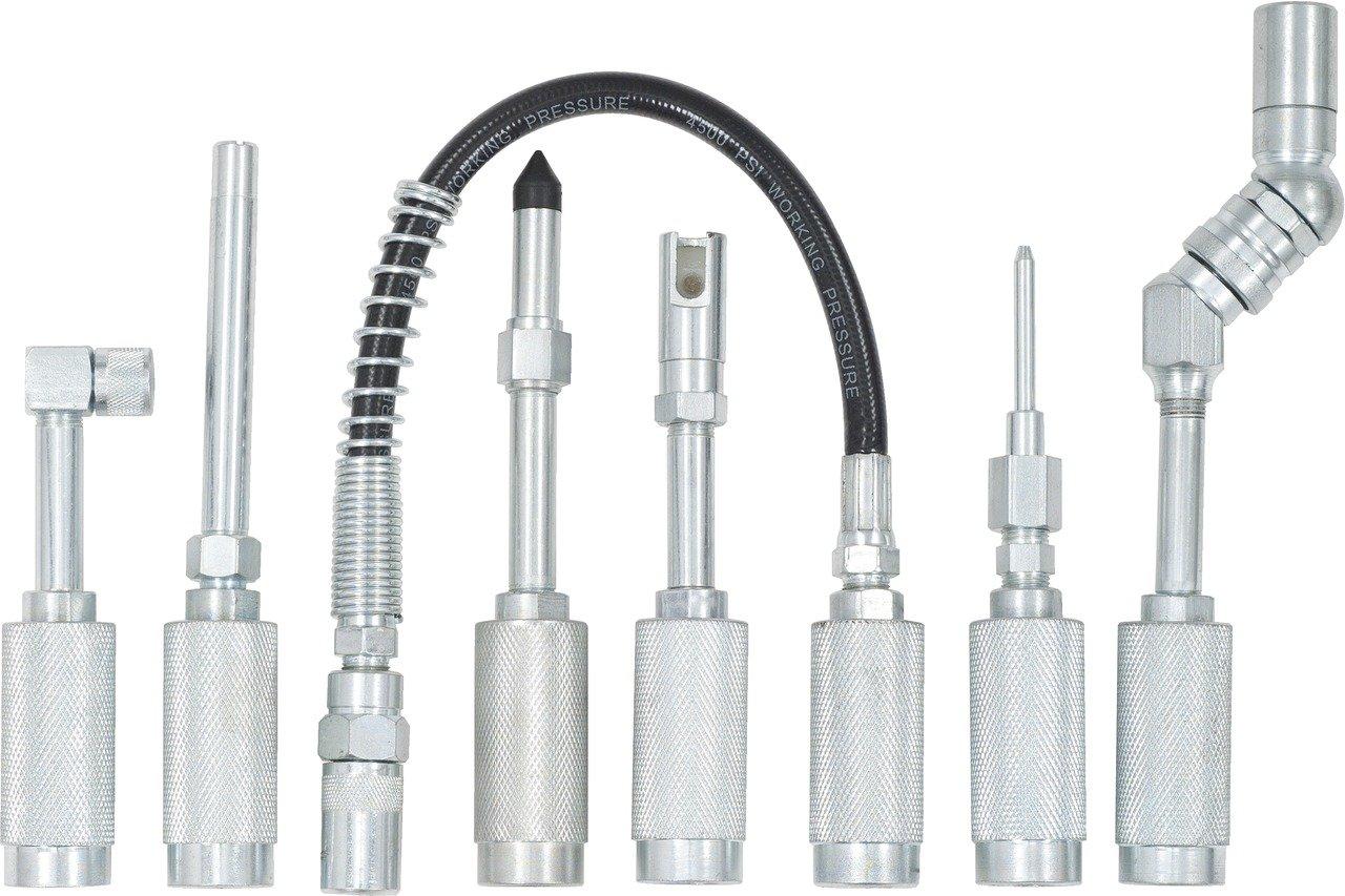 KS Tools 980.1100 Fettpressen-Adapter-Satz 7-tlg.